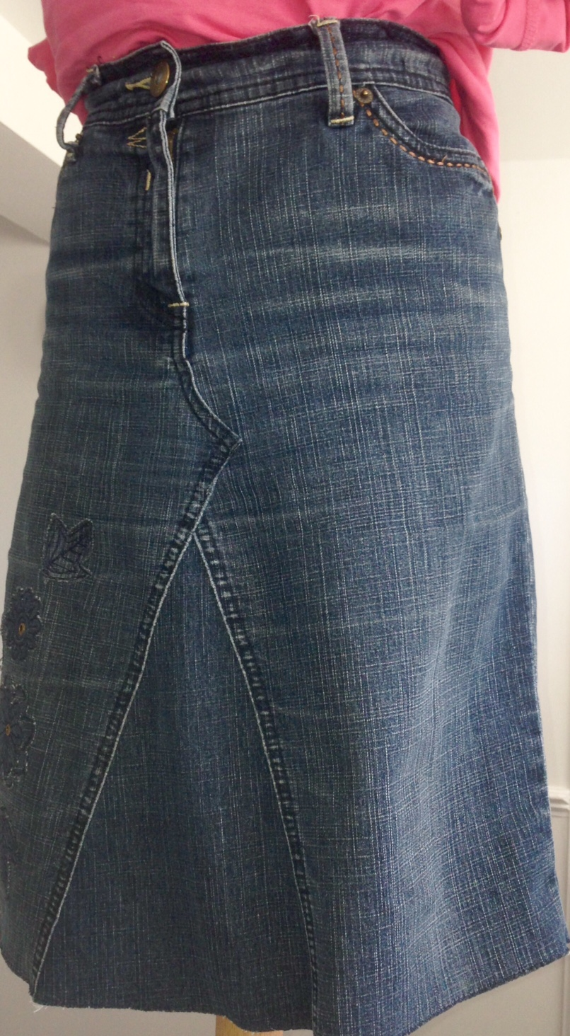 Denim Upcycling Jeans skirt