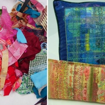 Rags to riches - new fabrics can be made from a pile of old fabric scraps