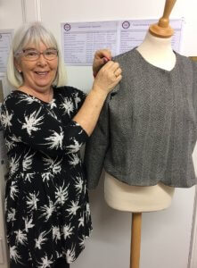 Dressmaking – Ann receives some tailoring tips