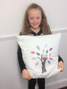 Children's classes – Loulou's Owl Applique Cushion