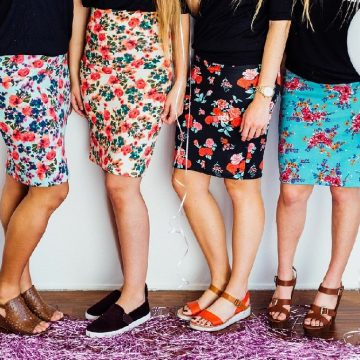 Make a skirt - Beginners Dressmaking. Image shows young women wearing skirts they've made themselves