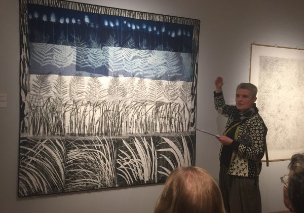 Songs for Winter is an exhibition by Quiltmaker Pauline Burbidge and sculptor Charlie Poulson