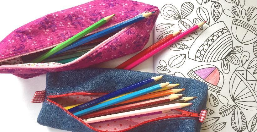 Kids sewing class - a pencil case to sew