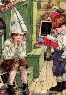 Some not so stupid questions - boy in dunce cap