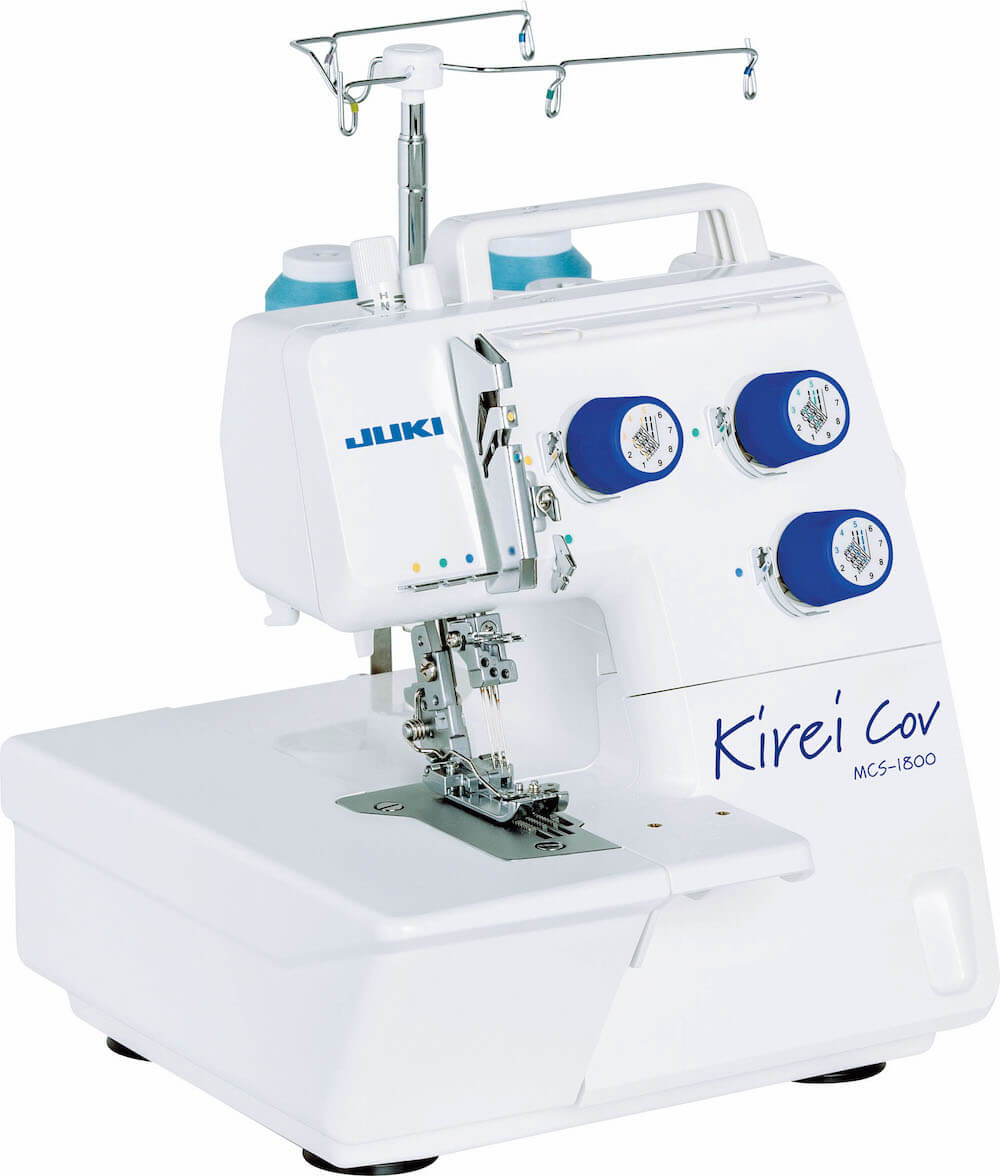 Juki MCS1800 coverstitch - 3-needle coverlocker and chainstitch sewing machine